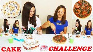 ТОРТ ЧЕЛЛЕНДЖ Cake Challenge Вкусные тортики с Кетчупом  вместо крема)) Люда готовит с Инной