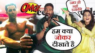 Salman के BHARAT का पहला BODY BUILDING Scene, Ajay Devgn और Kajol ने उड़ाया Reporter का मजाक