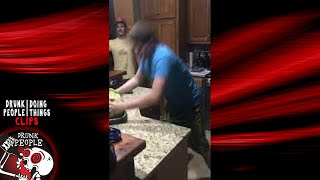 Breaking a Watermelon with His Forehead | Drunk People Doing Things Clips