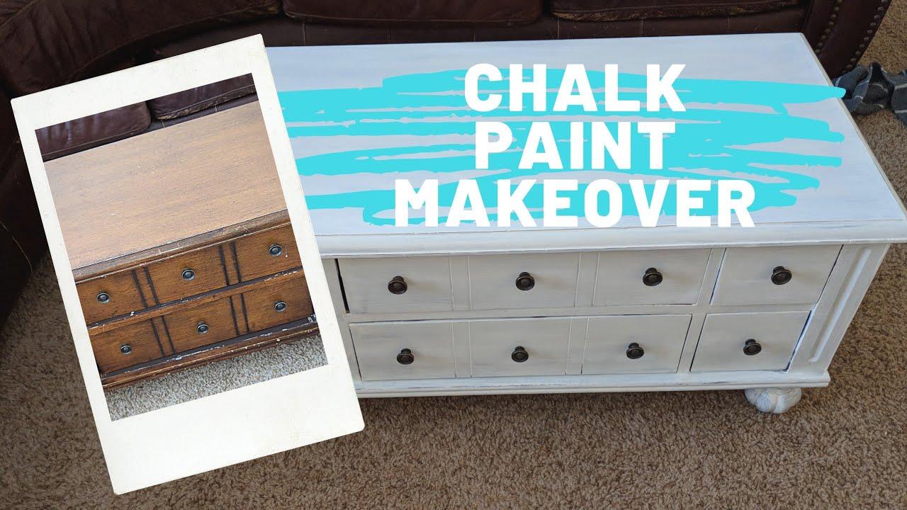 Diy Chalk Paint Refinish Coffee Table Youtube