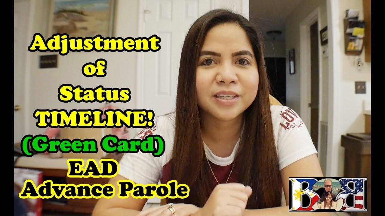 form i 485 timeline  GREENCARD TIMELINE FORM I-10 ADJUSTMENT OF STATUS WITH EAD & ADVANCE  PAROLE CARD
