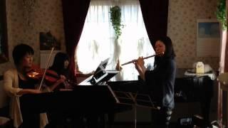 ピアノトリオ(フルート&ヴァイオリン&ピアノ)で、NHK 大河ドラマ「花...