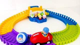 Pocoyo Swiggle Trak Race Car Shopkins Go for a Ride Woody Toy Story Cars James