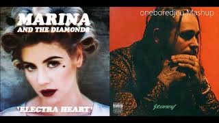 Malone and the Diamonds - Marina and the Diamonds vs. Post Malone feat. Justin Bieber (Mashup)