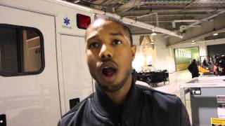 Hollywood super star Michael B. Jordan on his movie role in Creed as well Gabriel Rosado