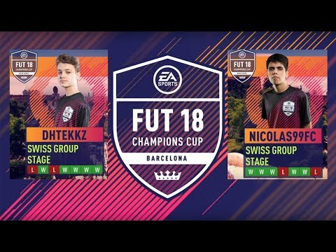 FIFA 18 - FUT Champions Cup Barcelona GRAND FINAL DHTEKKZ VS NICOLAS99FC