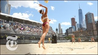 April Ross Plays Beach Volleyball At The AVP New York City Open | The Daily 360 | The New York Times