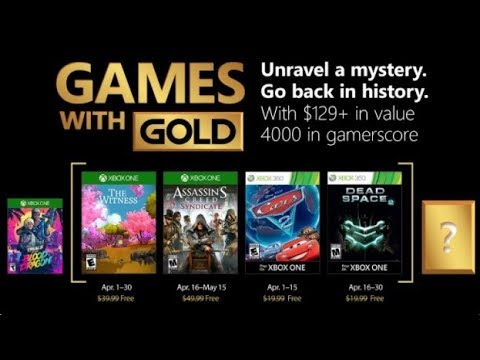 Games With Gold de Abril CONFIRMADOS! Assassins Creed Syndicate, The Witness, Cars 2 e Dead Space 2
