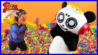 HELLO NEIGHBOR IRL TRAPPED ME IN GIANT BALL PIT FOR 24 HOURS!!