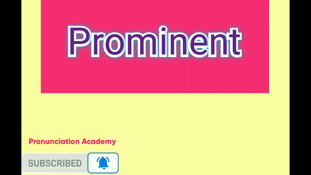 Prominent/how to pronounce word prominent/Hindi/urdu and English