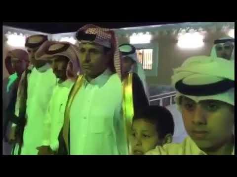تكريم العقيد حسين ابن قحصان الخدري في تبوك بعد صدور قرار نقله الى الغربية