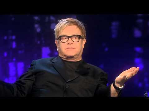 Piers Morgan with Elton John - funny
