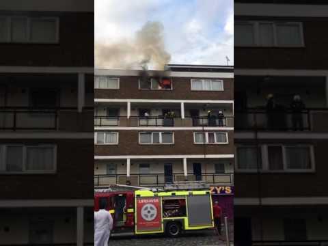 East london house on fire