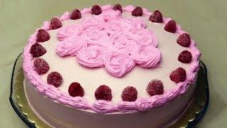 Meyveli Yaş Pasta Tarifi | Frambuazlı Pasta Yapımı