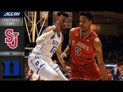 St. John's Vs. Duke Condensed Game   2018-19 ACC Basketball