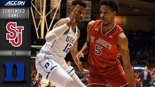 St. John's vs. Duke Condensed Game | 2018-19 ACC Basketball