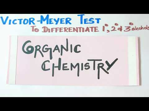 TN New Syllabus 12th Std- Victor Meyer Test /To Differentiate Primary,secondary & Tertiary Alcohols