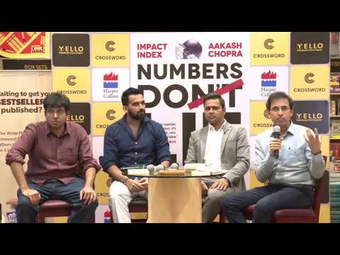 Podium discussion with Harsha Bhogle, Zaheer Khan, Aakash Ch