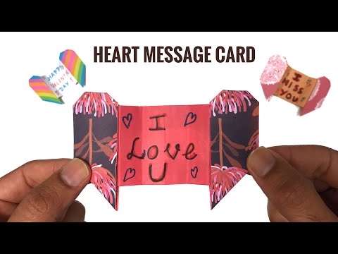 Secret Heart Message Card - DIY Origami Tutorial by Paper Folds - 977