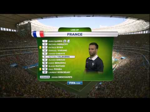 France vs Nigeria National Anthems World Cup 2014