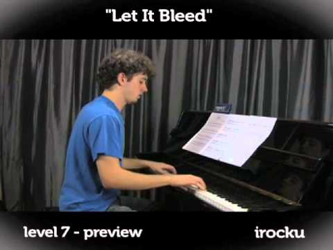 """""""Let It Bleed"""" by the Rolling Stones piano lesson on www.irocku.com."""