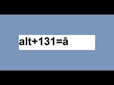 "MAKE 257+ SPECIAL CHARACTERS WITH THE ""ALT"" AND 0-9 ON THE NUMBER PAD!!"