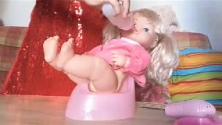 КУКЛА ЗАПИСЯЛА КАТЮ!!!😆Распаковка куклы.!Катя и Таня! Кукла пьёт и писает