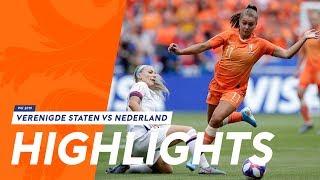 Highlights Verenigde Staten - OranjeLeeuwinnen (7/7/2019) WK 2019