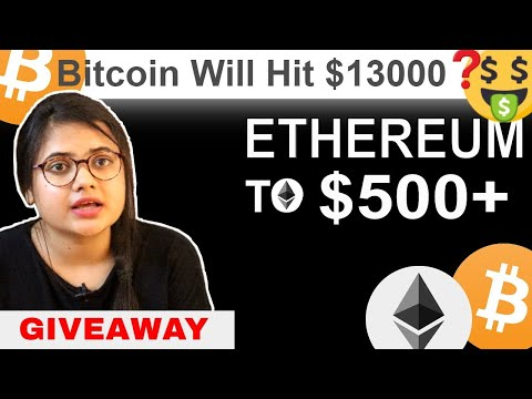 Bitcoin BTC will Hit $13000+ ?  Ethereum ETH $500+ ? Giveaway | Bitcoin News Today