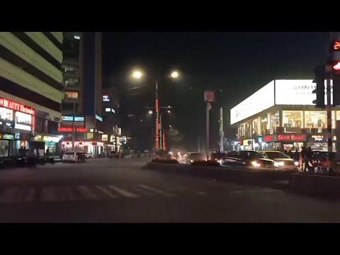 Night Dhaka City Street Views From Bangladeshi Prime Minister Office to Baridhara via Banani Gulshan