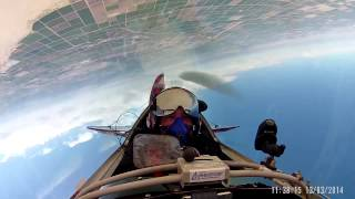 81 turn guinness world record inverted flat spin pilot view