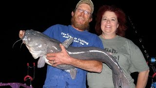 Guided Trip For Blue Catfish At Elephant Butte With Honey & Ronnie