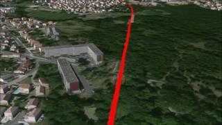 Tracé 1 - Ext. tram Ligne D vers Saint-Médard-en-Jalles et Le Haillan depuis la station Cantinolle
