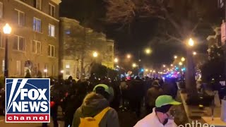 Demonstrators threatened to 'burn down' DC after protest turned violent