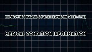 Hemolytic disease of the newborn (anti-Rhc) (Medical Condition)