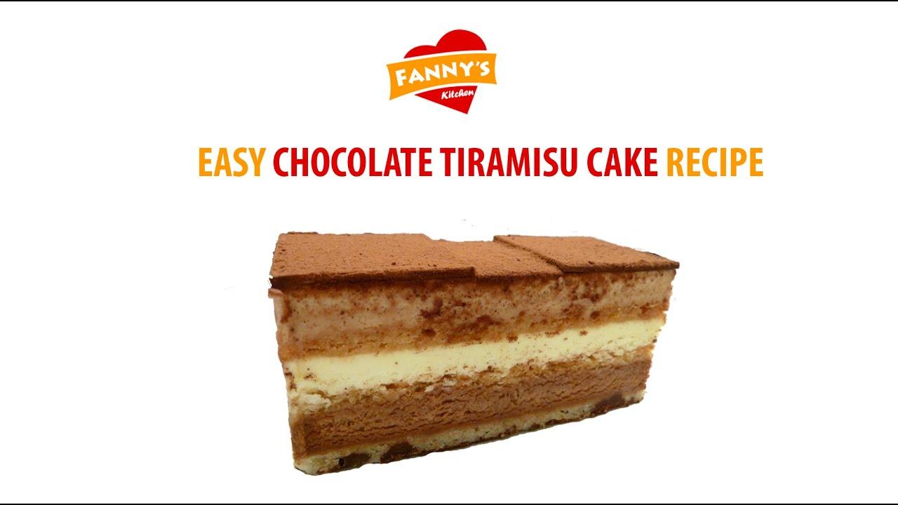 Easy Chocolate Tiramisu Cake Recipe - YouTube