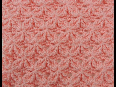 Crochet: Punto Lazos en Relieve # 2 - YouTube