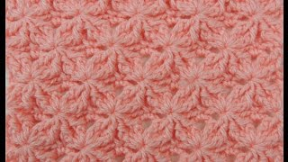 Repeat youtube video Crochet: Punto Lazos en Relieve # 2