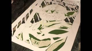 Уникальная трафаретная техника рисования(, 2016-04-30T16:48:11.000Z)