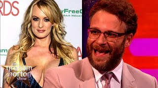 Seth Rogen Worked With Stormy Daniels TWICE | The Graham Norton Show