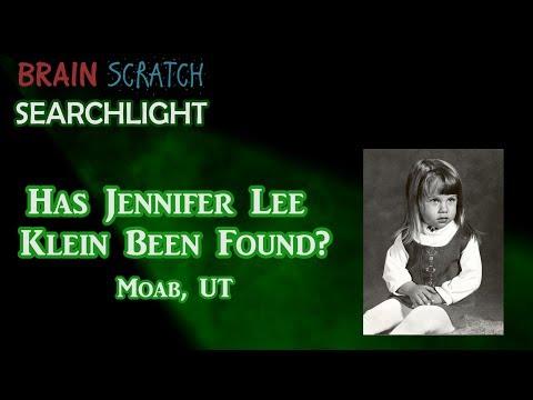 Has Jennifer Lee Klein Been Found?  On BrainScratch Searchlight
