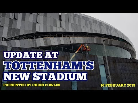 UPDATE AT TOTTENHAM'S NEW STADIUM: Sky Walk, East Stand Veil, Glass Panels: 16/02/19