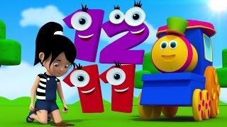 Один Два пряжка мой башмак | детский стишок | 3D Kids Song | Bob Train One Two Buckle My Shoe