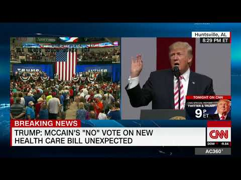 Trump: Media won't show crowd (as CNN does)