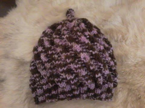 tuto tricot bonnet fantaisie bébé ( 6 mois )
