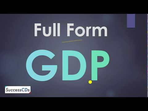 GDP Full Form. How To Calculate GDP