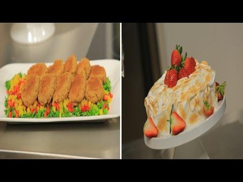 كروكيت البطاطس بالبصل المكرمل و الجبنة - تورتة البطاطا بالشكولاتة و المارينج : حلو و حادق حلقة كاملة