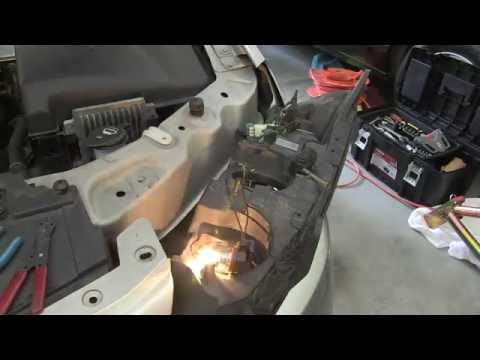 How to change the headlight bulb & connector in a pontiac G6  YouTube