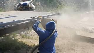 Подготовка прицепа к покраске (пескоструй)