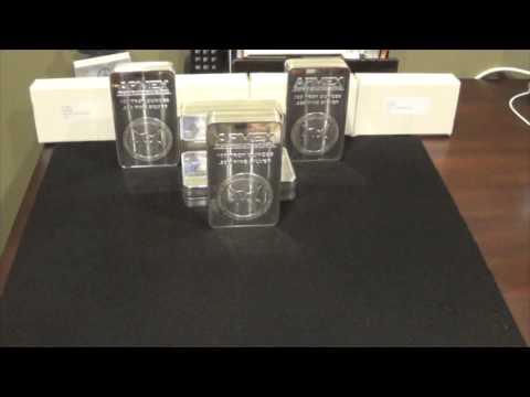 100 oz APMEX Silver Bars - Showcase